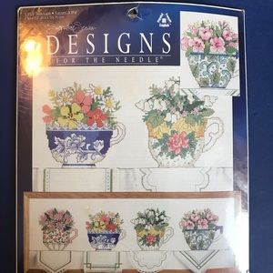 Leisure Arts Signature Series Teacups Cross Stitch